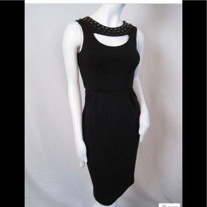 Catherine Malandrino black sleeveless beaded dress